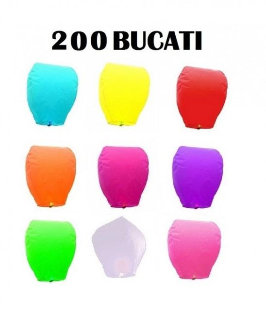 Lampioane zburatoare set 200 buc culori diverse la alegere