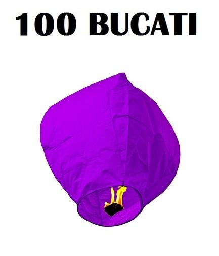 Lampioanele zburatoare mov set 100 bucati