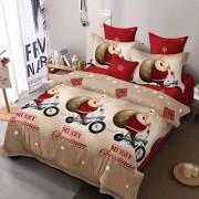 Lenjerie de pat,2 persoane,4 piese,Merry Christmas