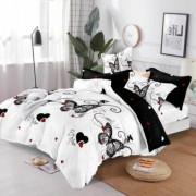 Lenjerie de pat Cocolino,4 piese,2 persoane,alb