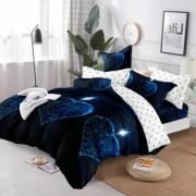 Lenjerie de pat Cocolino,4 piese,2 persoane,albastru