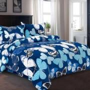 Lenjerie de pat Cocolino,4 piese,2 persoane,blue