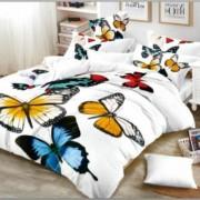 Lenjerie de pat Cocolino,4 piese,2 persoane,fluturi