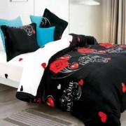 Lenjerie de pat Cocolino,4 piese,2 persoane,negru
