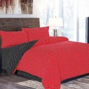 Lenjerie de pat Cocolino,4 piese,2 persoane,red