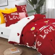 Lenjerie de pat Cocolino,4 piese,2 persoane,rosu