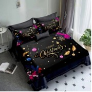 Lenjerie de pat Finet 3D,2 persoane,6 piese,Merry Christmas