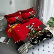 Lenjerie de pat Finet 3D,2 persoane,6 piese,moto