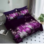 Lenjerie de pat Finet 3D,2 persoane,6 piese,Violet