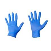 Manusi unica folosinta AxGlove din nitril,100 buc, albastru, L, nepudrate