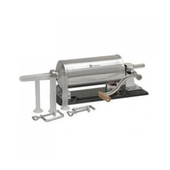 Masina de facut carnati 4kg, suport metal,4 palnii,inox