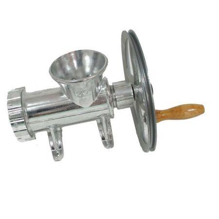 Masina tocat carne nr.32 aluminiu roata,utilizare manuala sau motor electric