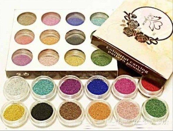 Set 12 cutiute Caviar pentru Unghii