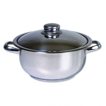 Oala inox cu capac, Cocinera,20 cm, 2 L, 3 straturi