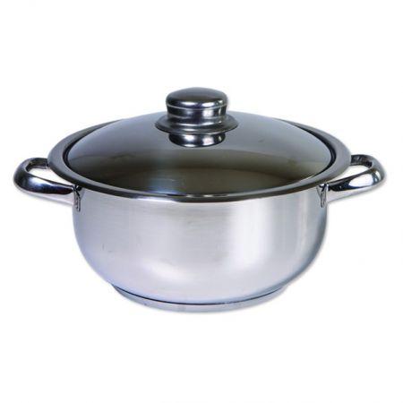Oala inox cu capac, Cocinera, 32 cm, 14 L, 3 straturi