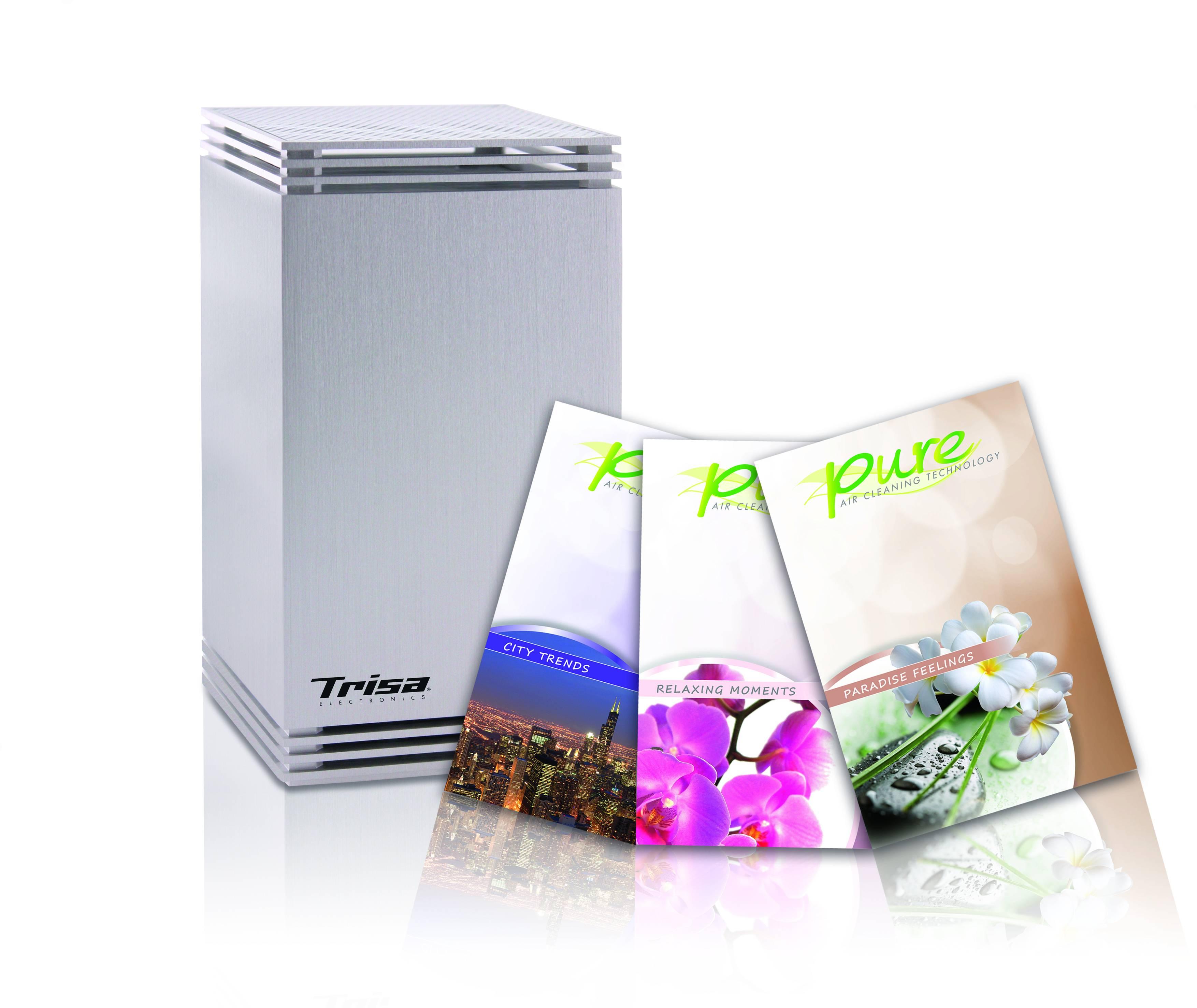Odorizant de camera Trisa Pure, 3 rezerve incluse