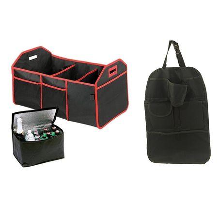 Organizator pentru portbagaj auto pliabil 3 in 1