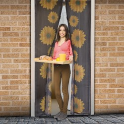 Perdea magnetica anti insecte Instant Door, 210 x 100 cm, model floarea soarelui