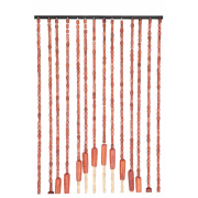 Perdea ornamentala pentru usa, 52 franjuri, 200x90 cm, bambus