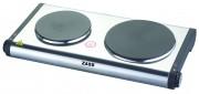 Plita electrica Zass ZHP 02, 2500W, 2 arzatoare, inox