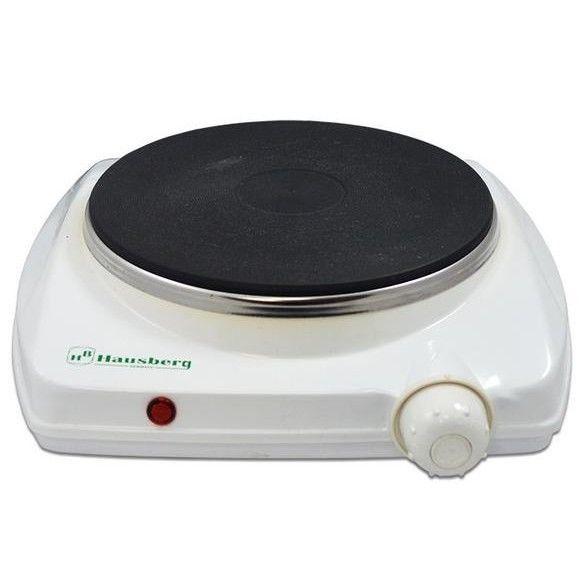 Plita electrica Hausberg cu 1 arzator si termostat, 1500 W, alb