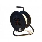 Prelungitor cu derulator cablu electric, 50m, 3x1.5mm, 4 prize