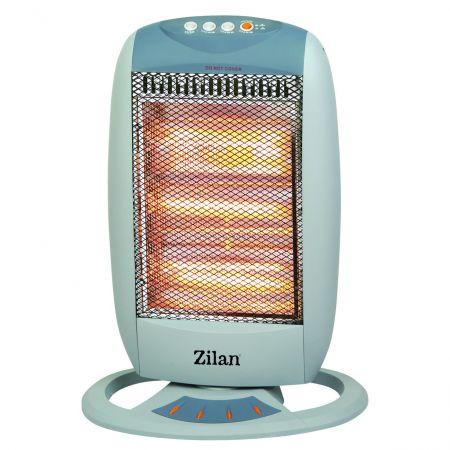 Radiator cu halogen ZILAN, 1200W, 3 trepte incalzire, unghi larg oscilatie