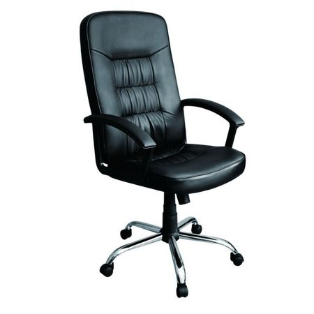 Scaun birou rotativ,piele ecologica,negru