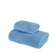 Set 2 Prosoape 100% bumbac,550gr/m2,fir dublu,bleu