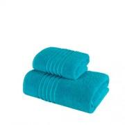 Set 2 Prosoape 100% bumbac,550gr/m2,fir dublu,turquoise