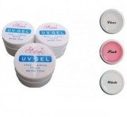 Set 3 Geluri SINA UV Transparent + Alb+ Pink