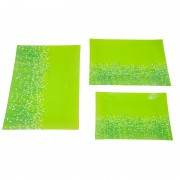 Set 3 platouri sticla,verde