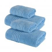 Set 4 Prosoape 100% bumbac,550gr/m2,fir dublu,bleu