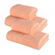 Set 4 Prosoape 100% bumbac,550gr/m2,fir dublu,portocaliu
