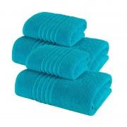 Set 4 Prosoape 100% bumbac,550gr/m2,fir dublu,turquoise