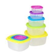 Set 5 caserole plastic cu capace,multicolore