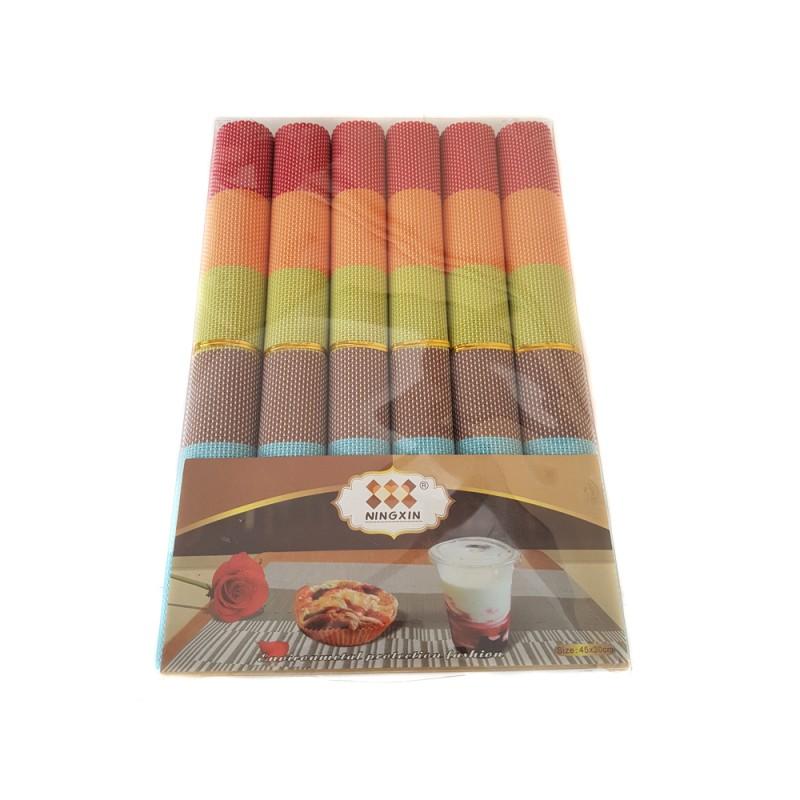 Set 6 Naproane pentru Servit Masa,45 x 30 cm,PVC, Diverse Culori
