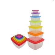 Set 7 caserole plastic cu capace,multicolore