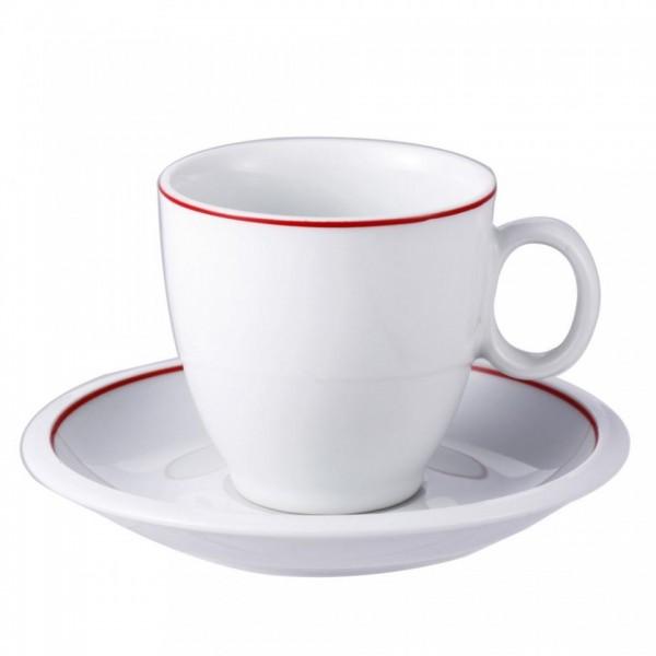 Set 4 cesti ceai si farfurii din portelan, 220 ml