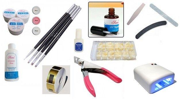 Set Complet pentru Manichiura unghii cu Lampa UV 36W