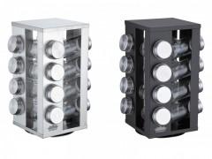 Set condimente 17 piese Tempero Peterhof, 4 nivele, suport rotativ