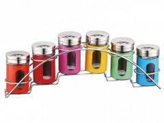 Set condimente 7 piese,Inox, Multicolor