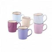 Set doua cani ceramica, culori diverse, 355 ml