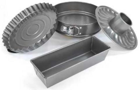 Set forme de prajituri din aluminiu, 4 piese,Peterhof