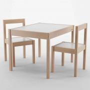 Set masa si 2 scaune pentru copii,lemn si MDF