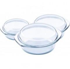 Set Vase Yena Rotunde cu capac, 6 piese,1,1.5,2 Litri