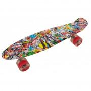 Skateboard cu roti led, 55 x 15 cm