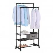 Suport mobil pentru haine din metal, 78x39x165 cm
