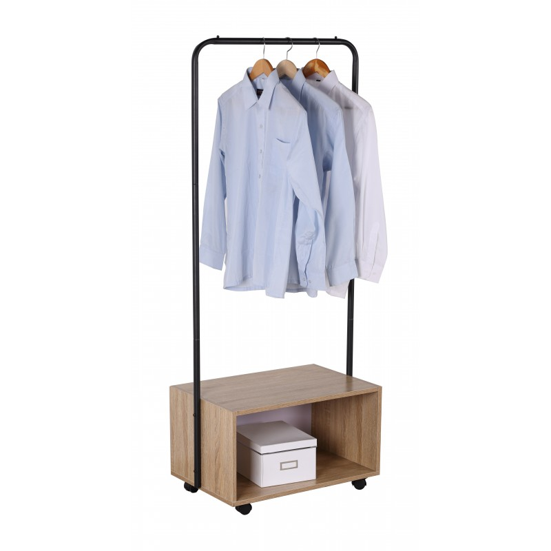 Suport mobil pentru haine din metal/PAL,64.50 x 40 x 152 cm