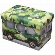 Taburet cu spatiu depozitare pentru copii,48 x 32 x 32 cm,verde